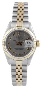 Rolex ROLEX Women's Datejust Two-tone Grey Roman Dial Watch 6917