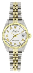 Rolex Rolex Women's Datejust Two-tone White Roman Dial Watch 69173
