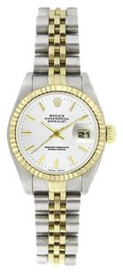 Rolex Rolex Women's Datejust Two-tone White Stick DIal Watch 6917
