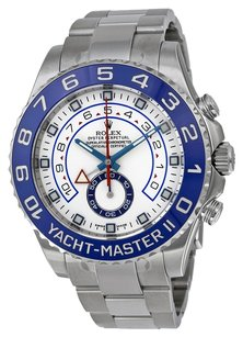 Rolex Rolex Yacht Master II White Dial Blue Bezel Stainless Steel Automatic Men's Watch 116680