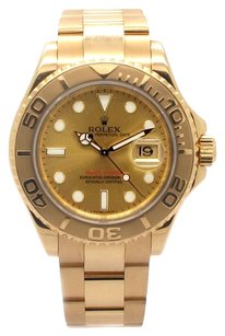 Rolex Rolex Yachtmaster 16628 18K Yellow Gold Champagne Dial Men's Watch