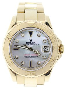 Rolex Rolex Yachtmaster 18K Yellow Gold Custom Diamond Men's Watch.