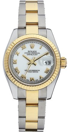 Rolex Rolex Datejust Stainless and 18K Gold White Dial Laides Watch