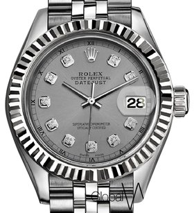 Rolex Silver Stainless Steel Rolex Datejust 36MM Large Size Watch 18K Gold