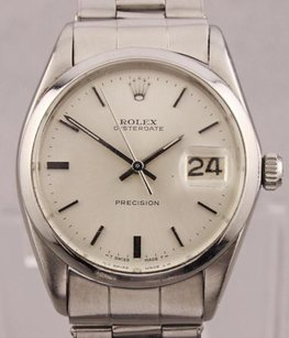 Rolex Vintage Rolex Oyster Date Precision Manual Wind Stainless Steel Watch Dr13