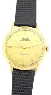 Rolex Vintage Rolex Oyster Perpetual 18k Gold Original Chronometer Dial 36mm Watch