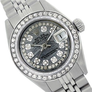 Rolex WOMENS ROLEX 26MM DATEJUST METEORITE DIAMOND STAINLESS STEEL WATCH