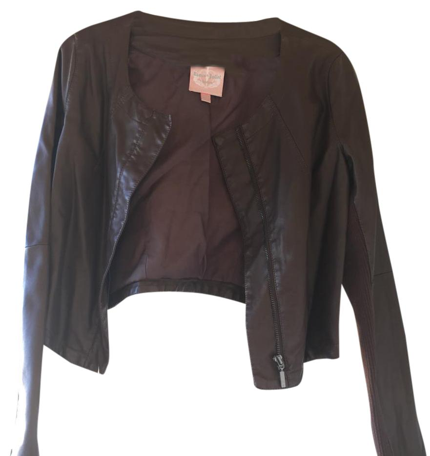 Romeo & Juliet Couture Brown Leather Jacket ...