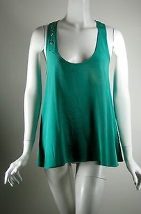 Rory Beca Silk Studded Top Green