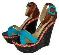 Rupert Sanderson Blue Wedges
