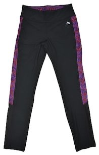 RXB Rbx Active Womens Black Purple Print Leggings Yoga Pants Size