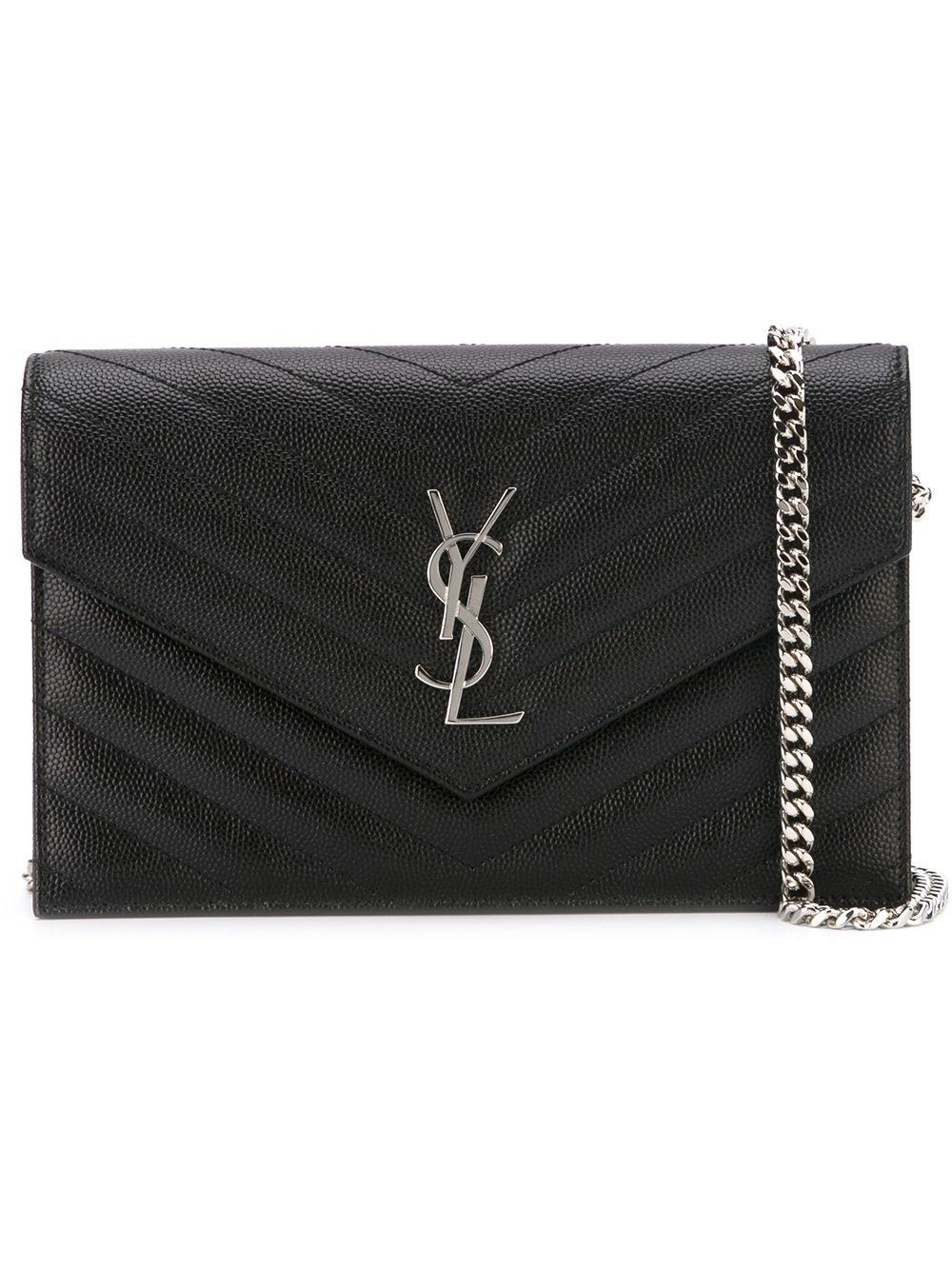 Saint Laurent Chain Wallet Ysl Monogram Quilted Envelope ...