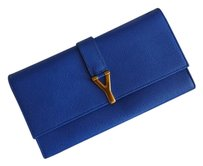 Saint Laurent Organizer Travel Royal Blue Clutch