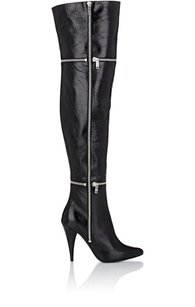 Saint Laurent Fetish Leather Zip Black Boots