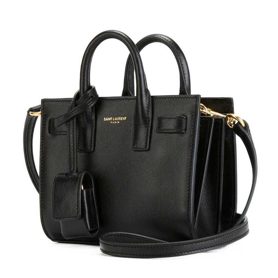 saint laurent sac de jour toy black leather cross body bag tradesy. Black Bedroom Furniture Sets. Home Design Ideas