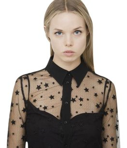 Saint Laurent Ysl Star Top Black