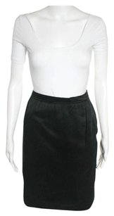 Saint Laurent Vintage 44 Italy Size Skirt Black