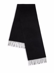Saint Laurent YSL Yves Saint Laurent Black Wool & Cashmere Scarf