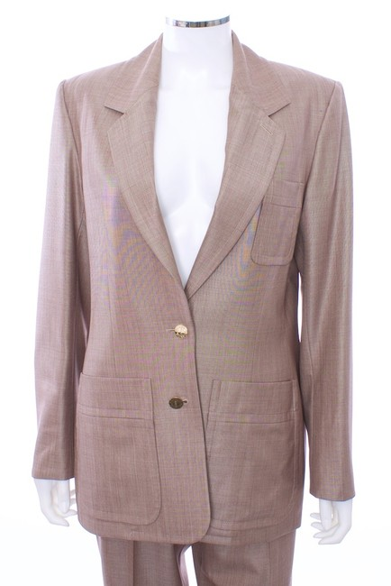 Saint Laurent YVES SAINT LAURENT TOM FORD 2PC WOOL AND SILK BLEND PANT SUIT SIZE 12 EURO F44