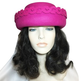 Saks Fifth Avenue Fuchsia Felt Modified Bowler; Fall & Winter [ HeavenlyHats ]