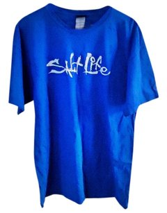 Salt Life Cotton T Shirt blue
