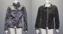 Salvatore Ferragamo Silk Wool Blend Reversible Hs717 Gray Jacket