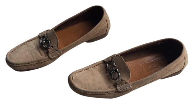 Salvatore Ferragamo Brown Suede Loafers Flats Size US 7 Regular (M, B)