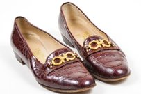 Salvatore Ferragamo Brown Flats