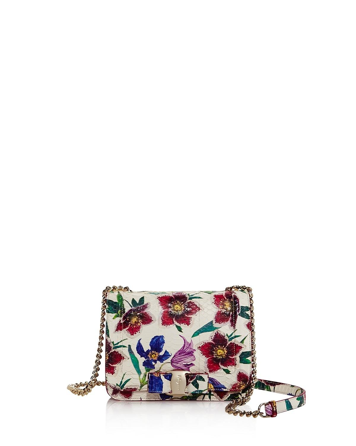 Salvatore Ferragamo Floral-print crossbody bag