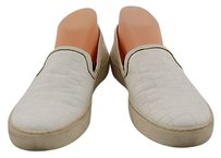 Sam Edelman Womens Textured Loafer 8m Man Made Casual White Flats