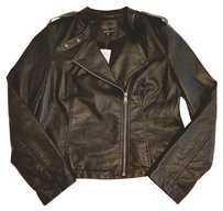Sanctuary Clothing Free People Bomber Zara Faux Leather Moto Motorcycle Jacket