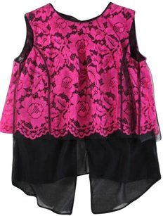 Sandro Top Black / Pink
