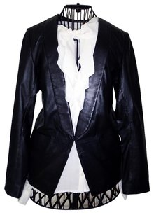 Sandro Leather Lambskin Classic Luxury Leather Jacket