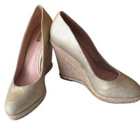 SCHUTZ Wedge Jute Gold Metallic Gold/jute Wedges