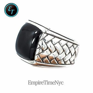 Scott Kay 925 Sterling Silver Onyx Ring 26.7 Grams Ring Mens