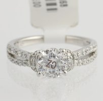 Scott Kay Scott Kay Diamond Engagement Ring - 14k White Gold Ribbon .58ct Fine Accents