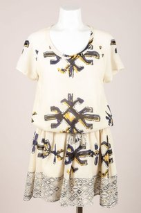Sea New York short dress Cream Blue Yellow Fez on Tradesy