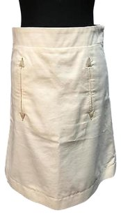 See by Chloé Chloe Blend Side Zip A Line 6465a Skirt Ivory