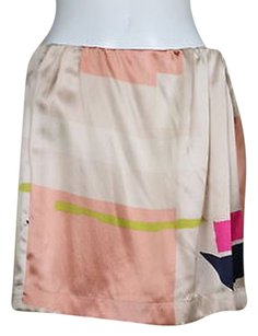 See by Chloé Chloe Womens Printed Silk Party Skirt Pink