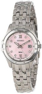 Seiko Seiko Sport Pink Mother Of Pearl Dial Stainless Steel Ladies Watch Sxde21