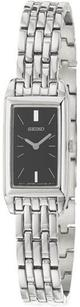 Seiko Womens Seiko Sujf75 Rectangle Stainless Steel Dress Watch