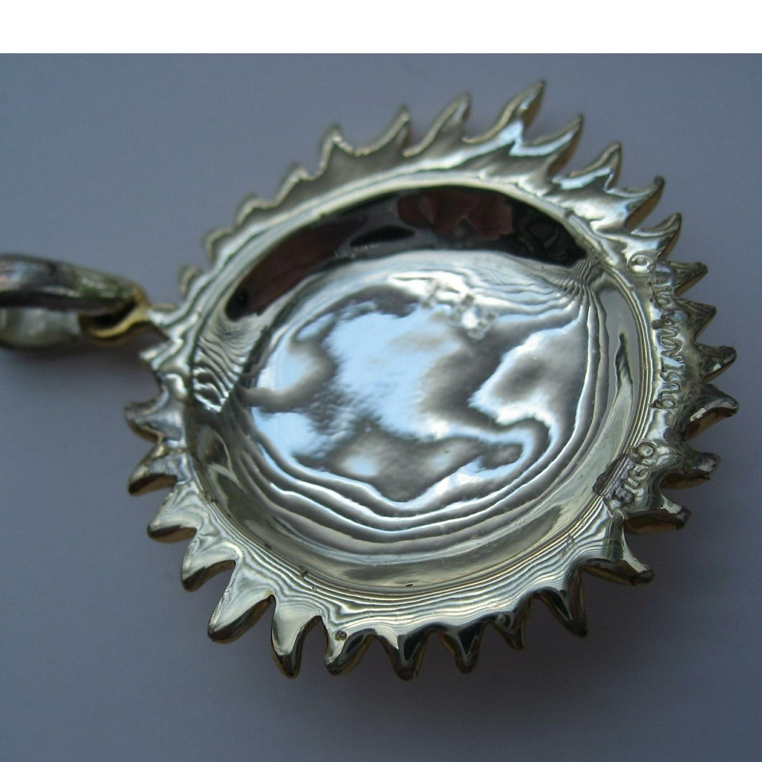Sterling Silver Amp Gold Sun Moon Pendant Necklace Tradesy