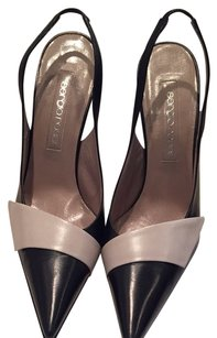 Sergio Rossi Black And Bone Pumps