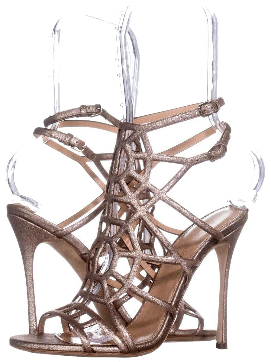 Sergio Rossi Gold A63130 Caged Sandals 415 Stardust Platino / 36 Eu Pumps Size US 6 Regular (M, B)