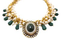 Setsuko Jewelry Jade and Pearls Statement Necklace