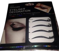 Sexy Fashionable Sexy Fashionable Peel & Stick Jet Black Decorative Eyeliner 4 Pairs 2 Designs