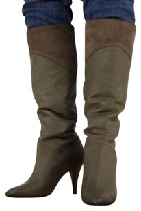 Seychelles Womens Knee High Leather Taupe Boots