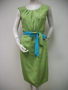 Sharagano Turquoise Blue Lime Green Reversible Hw2s11b45 Usa Dress