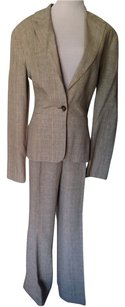 Signature by Larry Levine Very Small Turquoise & Tan Houndstooth Suit