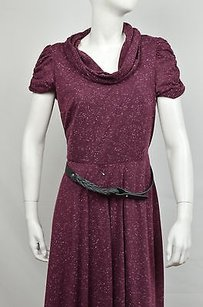 Signature by Robbie Bee short dress Purple Wine Short Sleeve Cowl Neck on Tradesy
